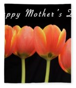 Mothers Day Card 2 Fleece Blanket