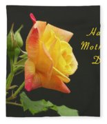 Mothers Day Card 4 Fleece Blanket
