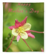 Mothers Day Card 5 Fleece Blanket