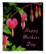 Mothers Day Card 6 Fleece Blanket
