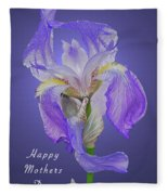 Mothers Day Card 7 Fleece Blanket