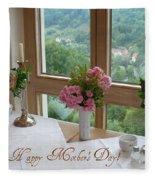 Mother's Day Card - German Cafe Fleece Blanket