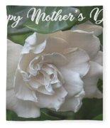 Mother's Day Gardenia Fleece Blanket