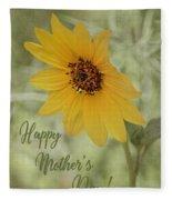 Mother's Day Sunflower Fleece Blanket