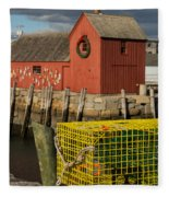 Motif 1 At Christmas, Rockport, Ma Fleece Blanket