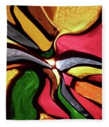 Motion And Light Abstract Fleece Blanket