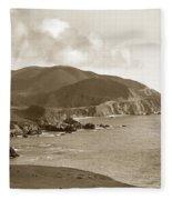 Notleys Landing Big Sur Coast Circa 1933 Fleece Blanket