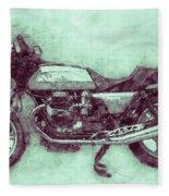 Moto Guzzi Le Mans 3 - Sports Bike - 1976 - Motorcycle Poster - Automotive Art Fleece Blanket