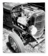 Motor Wheel Bw Fleece Blanket