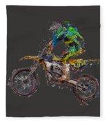 Motorbiker Fleece Blanket