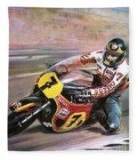 Motorcycle Racing Fleece Blanket