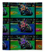 Motorcycle Road Race Fleece Blanket
