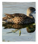 Mottled Duck Fleece Blanket