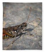 Mottled Grasshopper Fleece Blanket