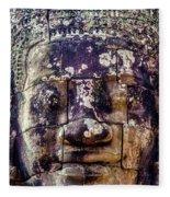 Mould Damage At Angkor Thom Fleece Blanket
