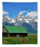 Moulton Cabin Fleece Blanket