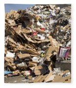 Mound Of Recyclables Fleece Blanket