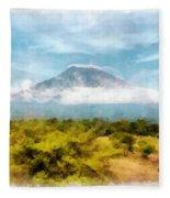 Mount Agung On The Island Paradise Of Bali Fleece Blanket