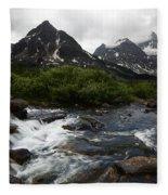 Mount Assiniboine Canada 15 Fleece Blanket
