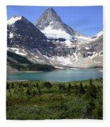 Mount Assiniboine Canada 16 Fleece Blanket
