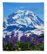 Mount Baker Wildflowers Fleece Blanket