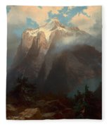 Mount Brewer From King's River Canyon - California Fleece Blanket