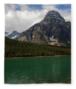Mount Chephren From Waterfowl Lake - Banff National Park Fleece Blanket