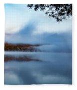 Mount Chocorua Peeks Above The Fog Fleece Blanket