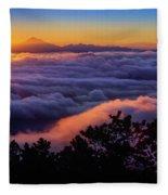 Mount Constitution Sunrise Fleece Blanket