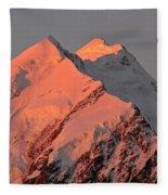 Mount Cook Range On South Island In New Zealand Fleece Blanket