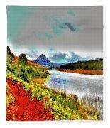 Mount Errigal, Donegal, Ireland, Poster Effect 1a Fleece Blanket