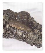 Mount Etna Souvenir Coin In Lava Fleece Blanket