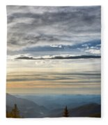 Mount Evans Painterly 1 Fleece Blanket