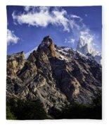 Mount Fitz Roy 3 Fleece Blanket