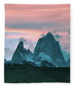 Mount Fitz Roy At Dusk Fleece Blanket