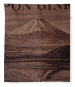 Mount Fuji Fleece Blanket