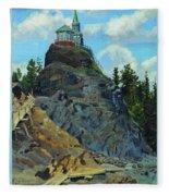 Mount Grace 1890 Apollinaris M Vasnetsov Fleece Blanket