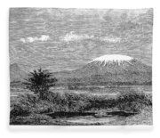 Mount Kilimanjaro, 1884 Fleece Blanket