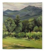 Mount Lafayette From Sugar Hill New Hampshire Fleece Blanket