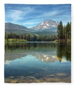 Mount Lassen From Manzanita Lake Fleece Blanket