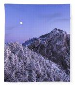 Mount Liberty Blue Hour Fleece Blanket
