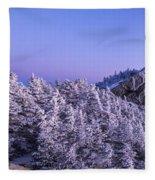 Mount Liberty Blue Hour Panorama Fleece Blanket