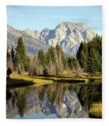 Mount Moran Reflections Fleece Blanket
