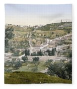 Mount Of Olives, C1900 Fleece Blanket