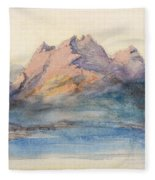 Mount Pilatus From Lake Lucerne, Switzerland Fleece Blanket