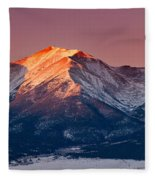 Mount Princeton Moonset At Sunrise Fleece Blanket
