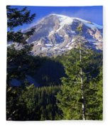 Mount Raineer 1 Fleece Blanket