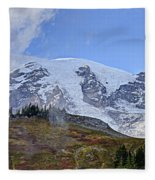 Mount Rainier 3 Fleece Blanket