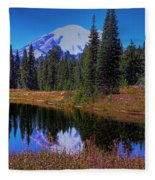 Mount Rainier And Tipsoo Lake Fleece Blanket
