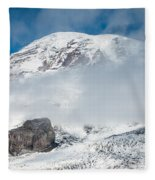 Mount Rainier Behind Clouds 3 Fleece Blanket